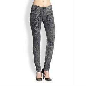 MOTHER The Looker Graphite Skinny Jeans sz 26